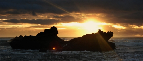 Sunrise on Sumner Beach, Christchurch