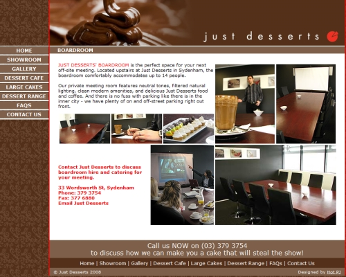 Just Desserts' Boardroom Photos by Mark Lincoln