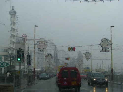 Blackpool in the rain