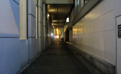 Dodgy alley off Cashel Street