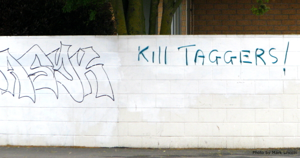 A Tuam Street tagger's ironic solution to the tagging situation