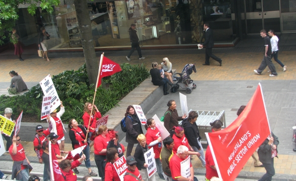 christchurch protest by new zealands public sector union