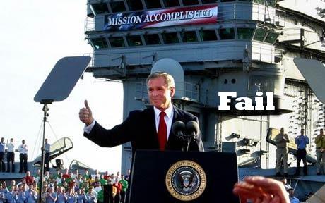 george bush mission accomplished fail