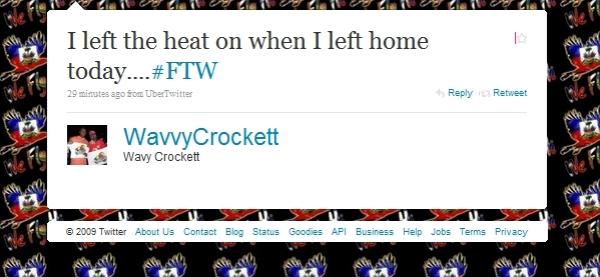 Twitter FTW Usage Status Update